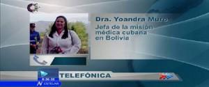 Yoandra Muro, jefa de la Misión Médica en Bolivia