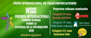 Tres proyectos cubanos optan por los Premios de la Sociedad de la Información 2020