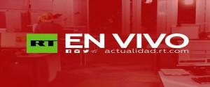 Cartel alegórico al canal ruso RT en Español