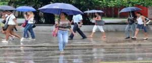 Lluvias fuertes e intensas en el occidente y centro de Cuba