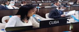 En la reunión del Consejo Ejecutivo de la Unesco, Cuba destacó el papel de la educación como herramienta para la promoción de estilos de vida sostenibles y de nuevas formas de relacionamiento de los seres humanos con la naturaleza. Foto: CubaMinrex