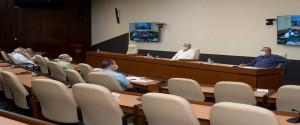 Sesión del grupo temporal de trabajo para la prevención y control del nuevo coronavirus
