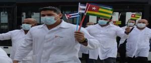 Brigada médica cubana que combatió la Covid-19 en Togo
