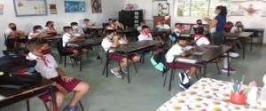 Trabajo de los profesores en las aulas
