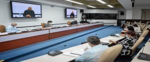 Reunión con representantes de la comunidad científica cubana