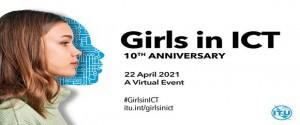 Cartel alegórico al Día Internacional de las Niñas en las TIC