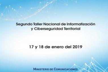 Cartel alegórico al  Taller Nacional de Informatización y Ciberseguridad Territorial