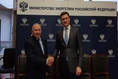 Ministro cubano de Energía y Minas, Raúl García Barreiro, y el viceministro ruso de Asuntos Exteriores, Serguei Riabkov