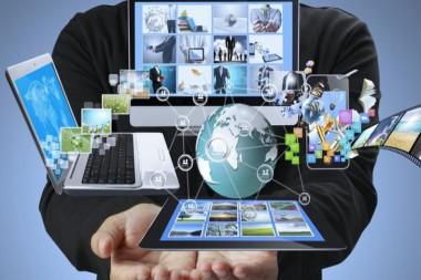 Cartel alegórico al uso de las nuevas tecnologías