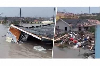 Imagenes de daños causados por el huracán Doria