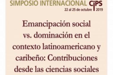 Cartel alegórico al Simposio Internacional denominado Emancipación Social contra la Dominación en el Contexto Latinoamericano Caribeño