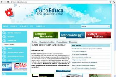CubaEduca, portal educativo cubano
