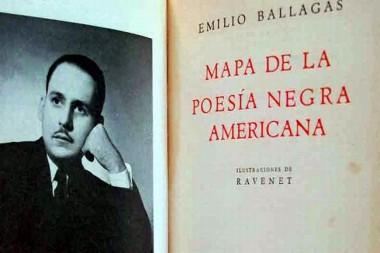 Cartel alegórico al Premio literario Nacional Emilio Ballagas