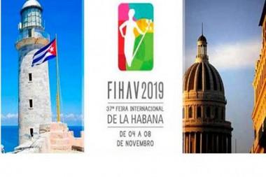 Cartel alegórico a la XXVII edición de la Feria Internacional de La Habana (Fihav)