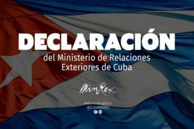 Cartel alegórico a la Declaración del MINREX