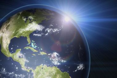 Cartel alegórico a la capa de ozono