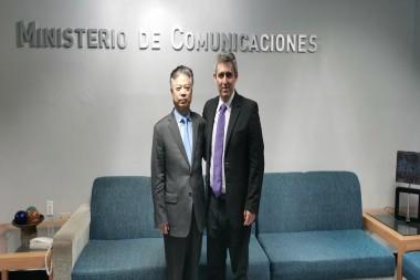 Ministro cubano de Comunicaciones y Viceministro chino de la Administración del Ciberespacio