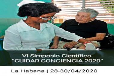 Cartel alegórico al VI Simposio Científico CUIDAR CONCIENCIA 2020