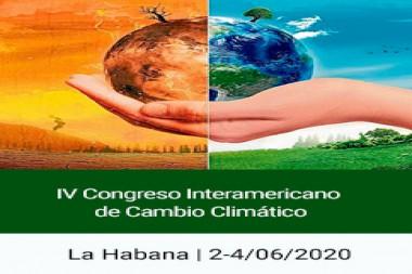 Cartel alegórico al  IV Congreso Interamericano de Cambio Climático