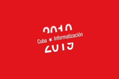 Cartel alegórico a la informatización en Cuba