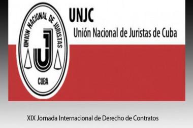 Cartel alegórico a la XIX Jornada Internacional de Derecho de Contratos