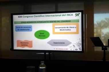 Cartel alegórico al XXII Congreso Científico Internacional del INCA