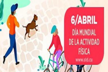 Cartel alegórico al 4 de abril, Día Mundial de la Actividad Física
