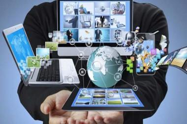 Cartel alegórico a las nuevas tecnologías
