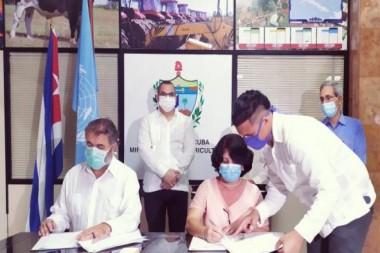 Impulsará Cuba con la FAO sistemas agroalimentarios más sostenibles