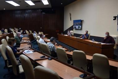 Reunión del grupo de trabajo que guía el enfrentamiento a la Covid-19