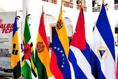 Banderas de paises miembros de la Alianza Bolivariana para los Pueblos de América