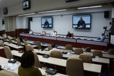 Videoconferencia con las principales autoridades de las provincias y el municipio especial Isla de la Juventud
