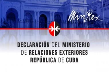 Declaración del Minrex Foto: Granma
