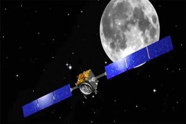 Nave  espacial india orbitando la luna