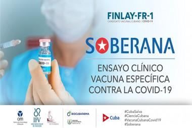 Candidato vacunal cubano Soberana-1 contra la covid-19