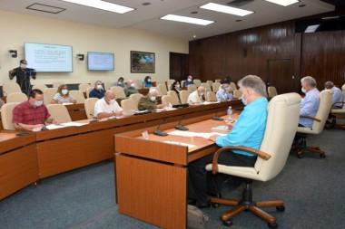 Reunión del grupo temporal de trabajo para la prevención y control del nuevo coronavirus que encabeza el Presidente de la República, Miguel Díaz-Canel-Bermúdez