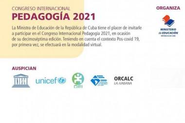 Organiza Cuba Congreso Pedagogía 2021 en modalidad virtual