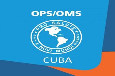 Cartel alegórico a la OMS, OPS y Cuba