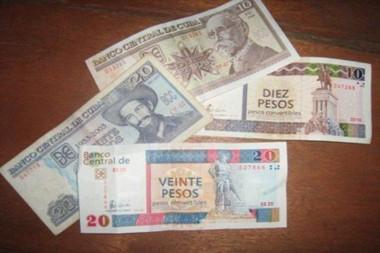 Pesos convertibles (CUC) y pesos cubanos (CUP)