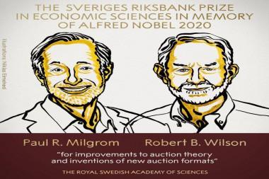 Los estadounidenses Paul Milgrom y Robert Wilson recibieron el Premio Nobel de Economía 2020. Foto: Tomada de Twitter