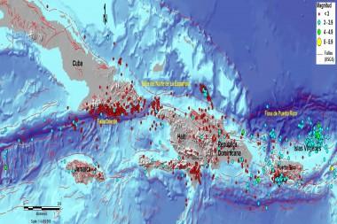 Mapa del norte del Caribe