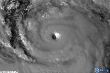 El huracán Épsilon, octubre de 2020