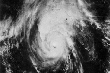 El huracán Kate en el golfo de México el 20 de noviembre de 1985. Imagen: NOAA.