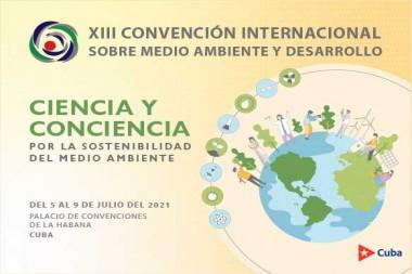 Cartel alegórico a la XIII Convención Internacional sobre Ambiente y Desarrollo