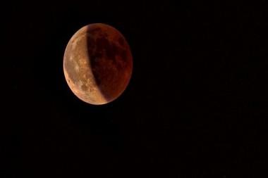 """Primer eclipse lunar de 2021, que además será una superluna y una """"luna de sangre"""". Foto: Getty Images."""
