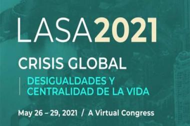 Cartel alegórico al 39 Congreso virtual de la Asociación de Estudios Latinoamericanos (LASA, siglas en inglés)
