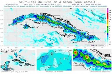 Emite Instituto de Meteorología aviso especial por posibles intensas lluvias