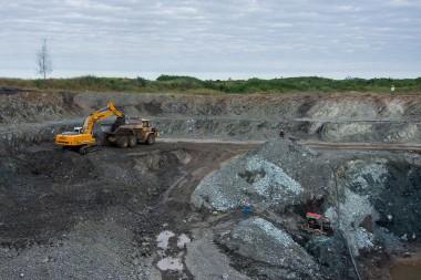 Explotación de un yacimiento de Cromo en Camagüey. Foto: Leandro Pérez Pérez / Adelante.cu