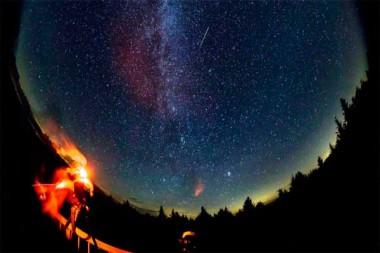 Las Perseidas vistas desde Spruce Knob (Virginia Occidental, EE.UU.), 12 de agosto de 2016./ Foto en RT