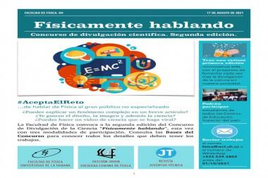 Concurso de Divulgación Científica  Facultad de Física - Universidad de La Habana